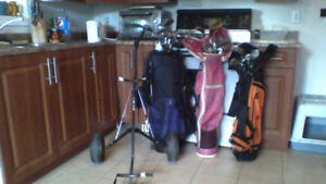 GOLF CLUBS BAG and WHEELS  only $20 (WOW)