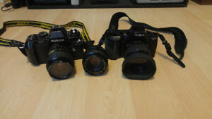 2 camera bodies and 3 lens