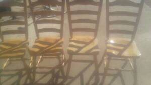 Set of 4 wood chairs Wellington Wellington Area Preview