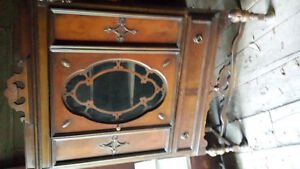 Antique 1920s China Cabinet