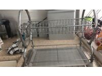 Stainless steel dish drainer