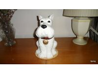 West Highland Terrier China Biscuit Barrel - new and unused