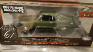 1/18 Scale Hiway 61 1969 Plymouth Barracuda