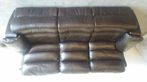 Brand new Brown leather Reclining Sofa w/Power seats