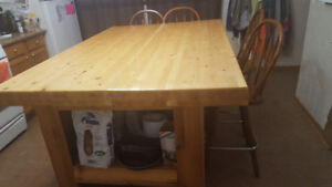 Moving/Downsizing! Butcher Block table/island