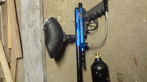Paintball launcher and Co2 tank