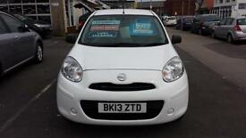 2013 NISSAN MICRA 1.2 Visia CVT Automatic 5 Door From GBP6,495 + Retail Package