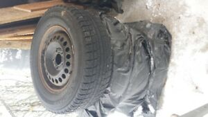 4 mounted winter tires 215 / 70R15 for $200