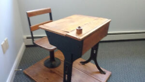 Antique Pupil Desk and Seat