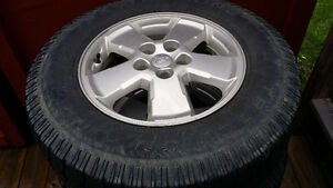 16 ALUMINUM RIMS WITH LT225 75 16 TRACTION KING TIRES 5X114.3 St. John's Newfoundland image 2