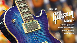 Own a Gibson Now!  Gibson Month At Long and McQuade in April