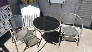 Outdoor 3 pc. Bistro table and chairs set- Patio, Balcony
