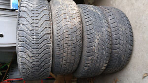 P185/65/14 Winter Tires Set of 4 On Dodge Neon Rims