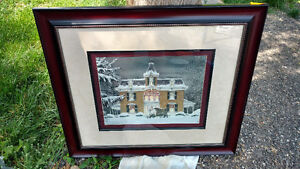 Walter Campbell Heart's Flower Shop Framed Signed  L/E