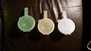 "Tupperware ""Forget Me Not"" Containers (3)"