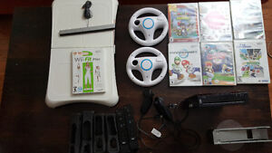 Complete Wii Set - with Fitboard, games