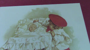 Vintage Framed Nursery Print, Maud Humphrey,1898, First Outing Kitchener / Waterloo Kitchener Area image 2