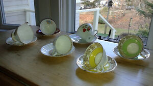 Bone china, made in England, cups & saucers