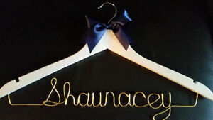 personalized wire wedding name hanger- Bride hanger London Ontario image 2