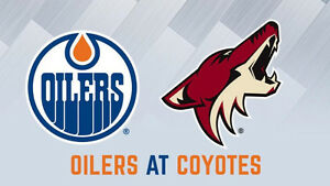 Edmonton Oilers vs Phoenix Coyotes February 14th Valentines Day!