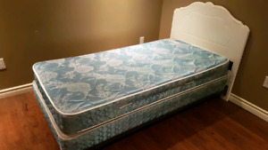 Single Bed with Box spring and Mattress