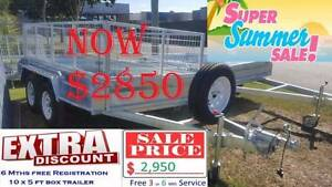 TRAILER 10×5ft BOX GAL 10x5 FT SUMMER SALE FREE REGO $2850 GAL Rocklea Brisbane South West Preview