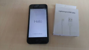 iphone 5 in mint condition,black 16GB locked to Bell,new charger