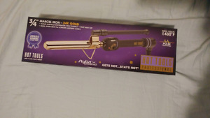 "Hot tools professional 24k Gold 3/4"" curling iron"