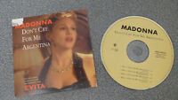 MADONNA-DON'T CRY FOR ME ARGENTINA (Evita) 4 TITRES/ CARDSLEEVE