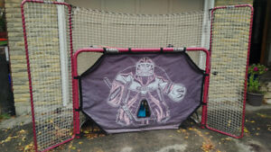 Hockey Net, Goalie, Extra Wide Shot Blockers, Driveway Skills!