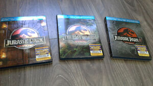 JURRASIC PARK TRILOGY SPECIAL COLLECTOR PACKAGE BLURAY/DVD COMBO