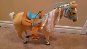 "18"" doll accessories - horse, tent, day bed & salon chair"