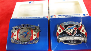 Collectors Blue Jays World Series Championship Belt  Buckle