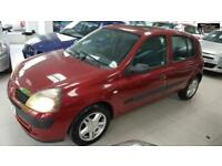 2003 RENAULT CLIO PETROL RED