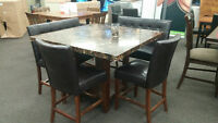 Dinette Set With 2 Bench's and 2 chairs