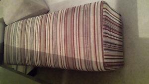 Designer Striped Fabric Bench