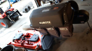 """Kubota 60"""" mid deck mower with new belt and pto bagger"""