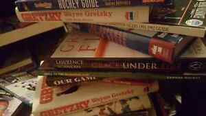 Selling NHL books and magazines. For a $1.00 each.