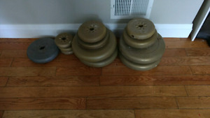 140 lbs of York weights