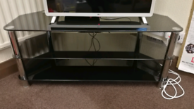 3 Tier Black Glass and Chrome TV stand/coffee table