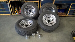 Chrome mag rims with 295/50/R15 tires staggered