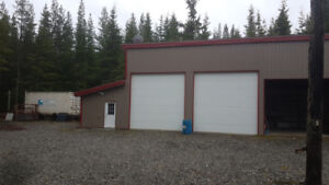 Heated Two Bay Shop with attached office space for lease or rent