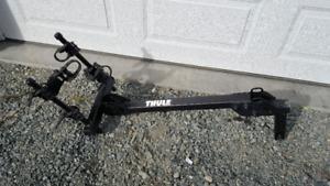 Hitch mounted bike rack