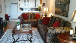 Chesterfield & Loveseat, MUST SELL