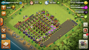 Clash of Clans Super Cell Game MAXED Account TH Townhall 9 10 11