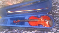 violin kit, barley used