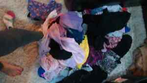 GARBAGE BAG FULL OF BRAND NAME WOMENS CLOTHES