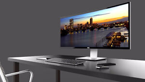 Complete Dell System i5/4Gb/250Gb /Wi Fi+ New 34 inch  LED