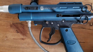 Paintball gun. With c02 tank and hopper.
