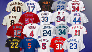 MLB Jerseys - Any Team - Any Player - Any Size!